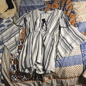 Striped romper fit for any occasion size s